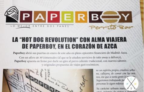 Este es el logo de Paperboy.