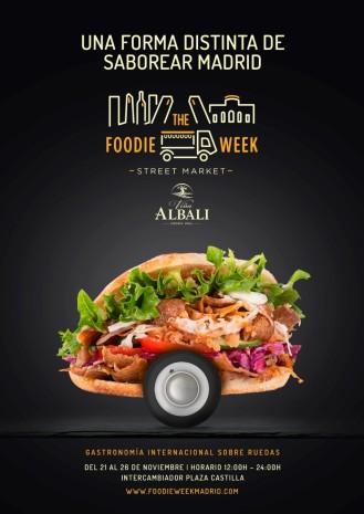 """Uno de los carteles publicitarios de """"The Foodie Week Madrid"""""""