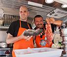 """Jonatan y Javier en el concurso """"Cocineros al volante"""""""