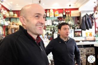 Luis, catador de Oleumbox y Antonio encargado del marketing.