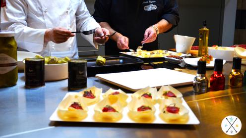 Las delicias que prepararon los chefs.