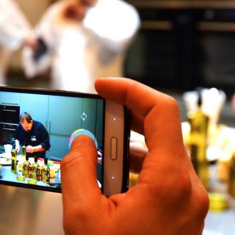 El sensacional show cooking ofrecido por Miguel Garcia y Joseba Guijarro.
